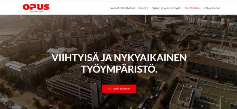 Opus Business Park – sijainti ratkaisee toimitilojen vuokraamisessa myös verkossa