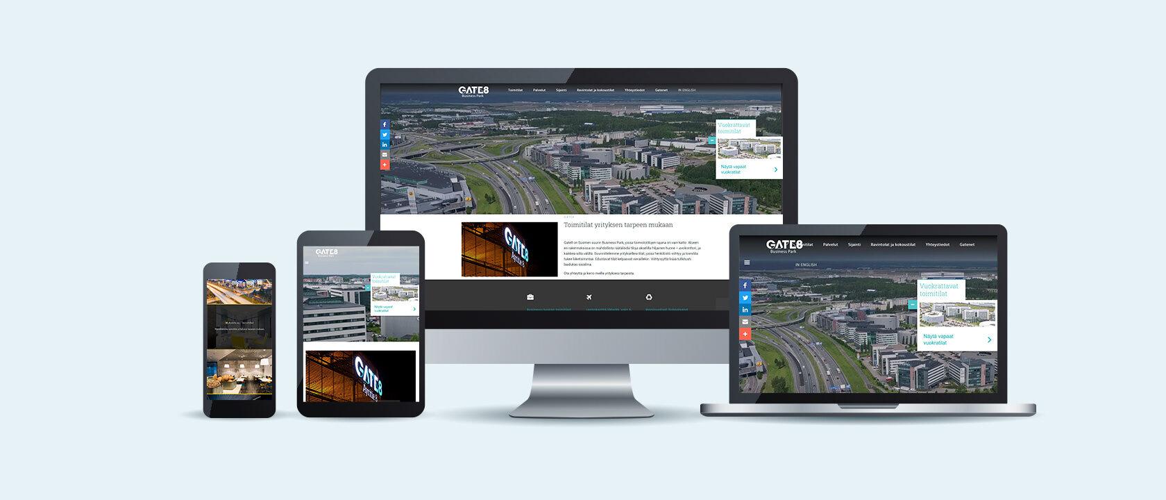 Gate8.fi: Suomen suurin Business Park uudisti sivustonsa