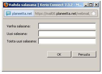 Sähköpostin Salasanan Vaihto